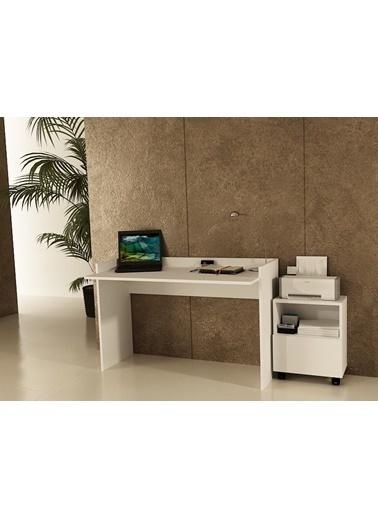 Sanal Mobilya Sirius Dolaplı Çalışma Masası 120-Gk Beyaz